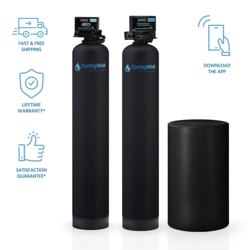 Well Water Filter & Salt Based Water Softener Combo