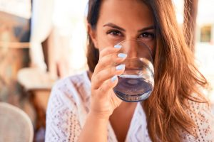 woman drinking well water