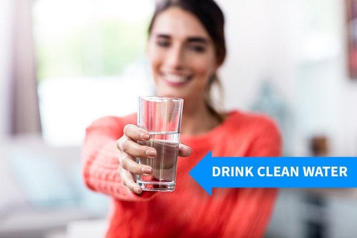 drink clean water